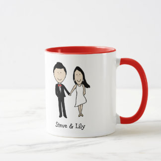 Classy couple- custom cartoon mug