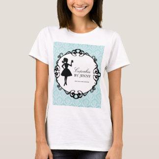 Classy Cupcake Silhouette Bakery T'Shirt T-Shirt