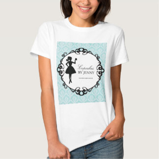 Classy Cupcake Silhouette Bakery T'Shirt T Shirts