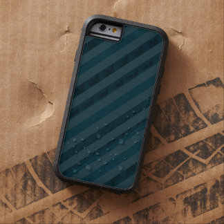 Classy Custom Dark Aqua & Navy Blue - Stripes Tough Xtreme iPhone 6 Case