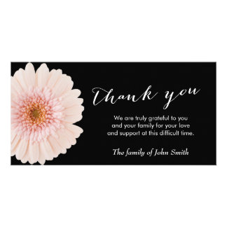 Classy Daisy Flower Memorial Thank You Photo Card