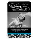 Classy Damask Save the Date Magnets