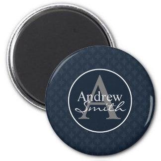 Classy Dark Blue Personalized Magnet