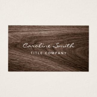Classy dark oak wood grain professional profile