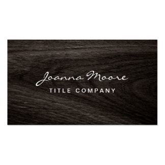 Classy dark oak wood grain professional profile pack of standard business cards