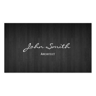 Classy Dark Wood Architect Business Card