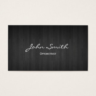 Classy Dark Wood Optometrist Business Card
