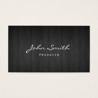 Classy Dark Wood Producer Business Card