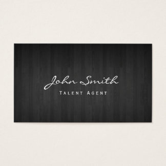 Classy Dark Wood Talent Agent Business Card