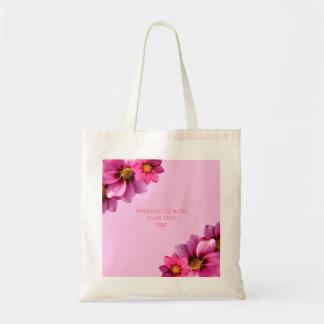 Classy Decorative Corner Dahlias Tote Bag