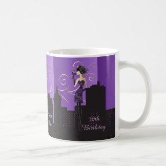 Classy Diva Birthday or Bachelorette Girl   Purple Basic White Mug