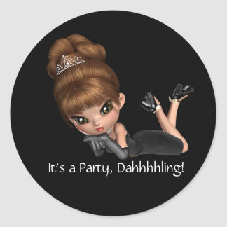 Classy Diva Party Stickers