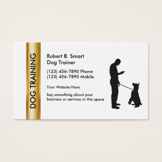 Dog training office supplies stationery zazzlecomau for Dog trainer business card