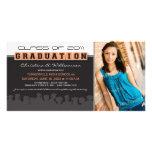 Classy Ebony/Peach Graduation Announcement