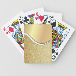 Classy Elegant Faux Gold ,Glittery Bicycle Playing Cards