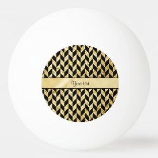 Classy Elegant Gold Chevrons Ping Pong Ball