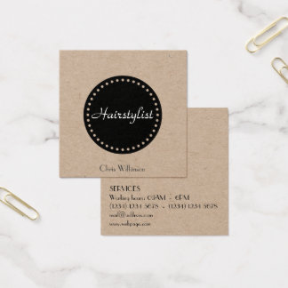 Classy elegant luxury stylish cover square business card