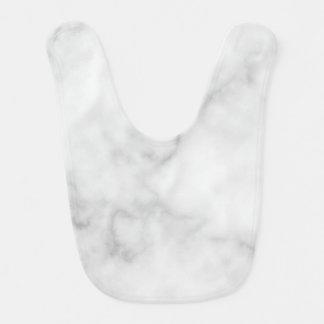 Classy Elegant White Marble Pattern Bib