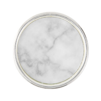 Classy Elegant White Marble Pattern Lapel Pin