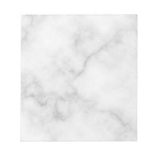 Classy Elegant White Marble Pattern Notepad