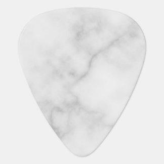 Classy Elegant White Marble Pattern Plectrum