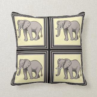 Classy Elephant Tile Throw Pillows