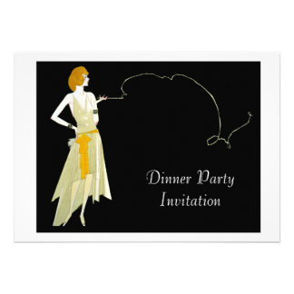 Classy Evening Dinner Party Invitation Card