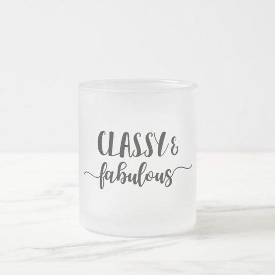 Classy & Fabulous Frosted Glass Coffee Mug