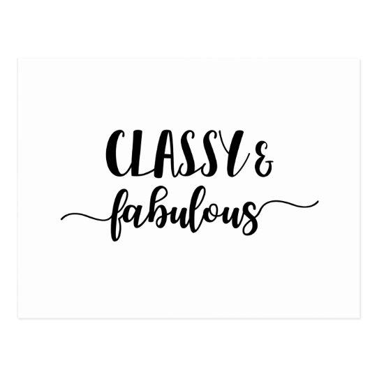 Classy & Fabulous Postcard