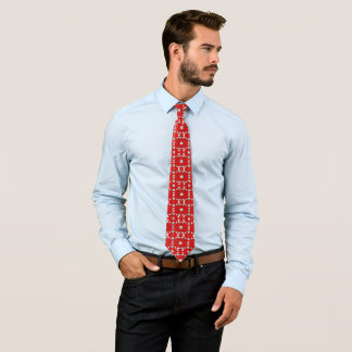 Classy Fashion Tie for Men-Red/White/Gray