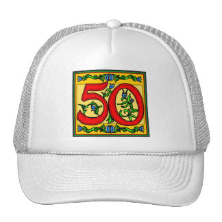 Classy Fifty 50th Birthday Gifts Mesh Hats