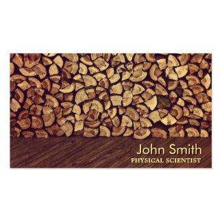 Classy Firewood Physical Scientist Business Card