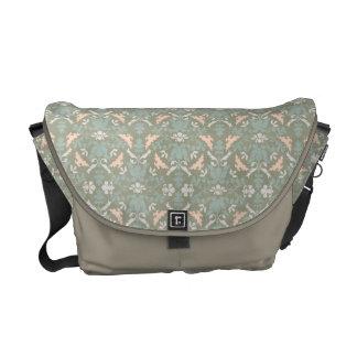 Classy Floral Damask Pattern Courier Bag