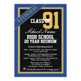 Classy Formal High School Reunion 13 Cm X 18 Cm Invitation Card
