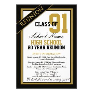Classy Formal High School Reunion Invites