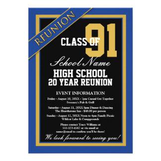 Classy Formal High School Reunion Invite