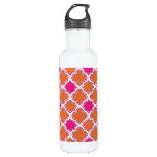 Classy Geometric Pink and Orange Print 710 Ml Water Bottle