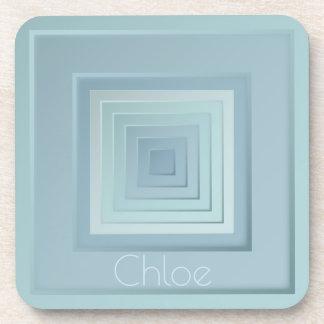 Classy Geometric Squares Coaster