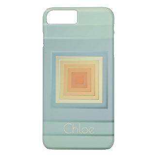 Classy Geometric Squares (light blue & yellow) iPhone 8 Plus/7 Plus Case