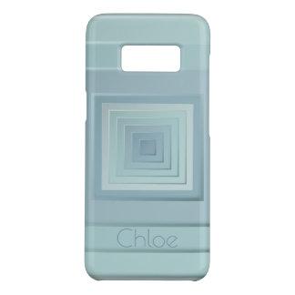 Classy Geometric Squares (light blues) Case-Mate Samsung Galaxy S8 Case