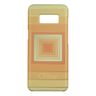 Classy Geometric Squares (soft yellows & orange) Case-Mate Samsung Galaxy S8 Case