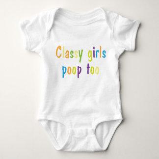 Classy-Girls-Poop-Too Baby Baby Bodysuit