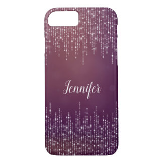 Classy girly String of lights purple personalized iPhone 8/7 Case