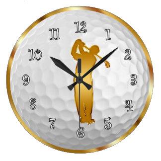 Classy Gold Acrylic Wall Clocks