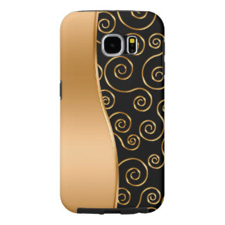 Classy Gold And White Galaxy S6 Case