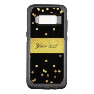 Classy Gold Confetti Black OtterBox Commuter Samsung Galaxy S8 Case