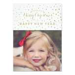 Classy Gold Dots Merry Christmas Photo Card 13 Cm X 18 Cm Invitation Card