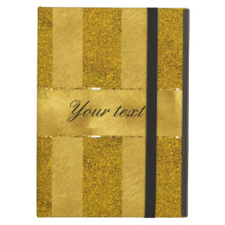 Classy Gold Foil Stripes Case For iPad Air