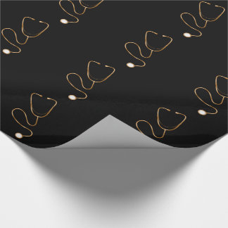 Classy Gold Medical Theme Wrapping Paper