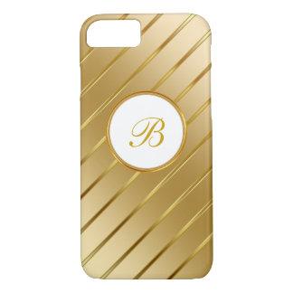 Classy Gold Monogram iPhone 8/7 Case